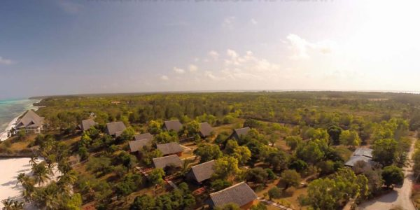 Aerial View and surroundings Kichanga zanzibar accommodations deals