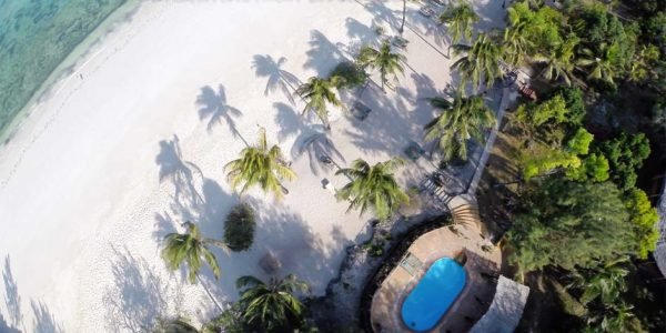 Aerial view -swimming pool zanzibar accommodations deals