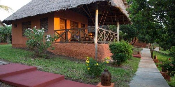 Side view garden bungalow zanzibar accommodations deals